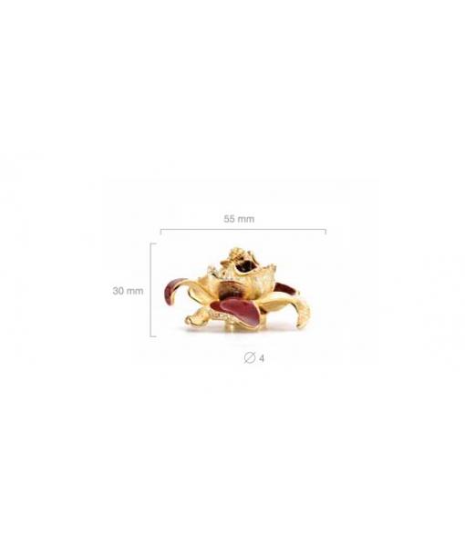 Maniglieria fiore con smalto e swarovski