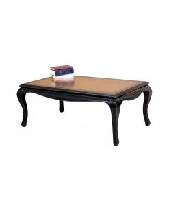 Tavolino bicolore nero rettangolare per salotto