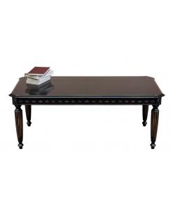 Tavolino rettangolare laccato nero per salotto