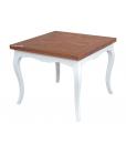 Tavolo quadrato bicolore con piano intarsiato