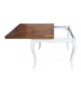 Tavolo quadrato in stile classico allungabile, Art. FA-337-BI