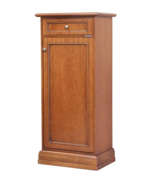Scarpiera salva spazio con una porta e un cassetto, Art. 110