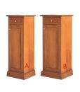 Scarpiera colonna con una porta e un cassetto, nelle 2 versioni di larghezza disponibili