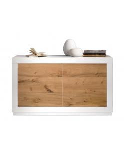 Madia bassa due ante in legno di design