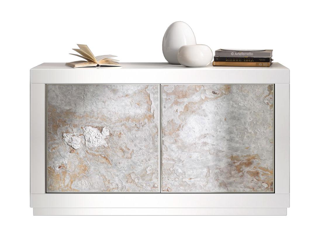 Credenza Moderna Laccata Nera : Madia stones laccata bianca ante arteferretto