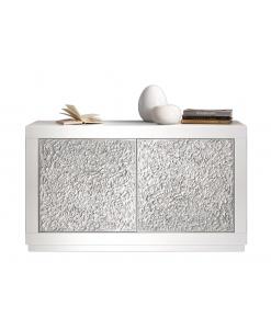 Madia silver laccata e legno laccato di stile contemporaneo