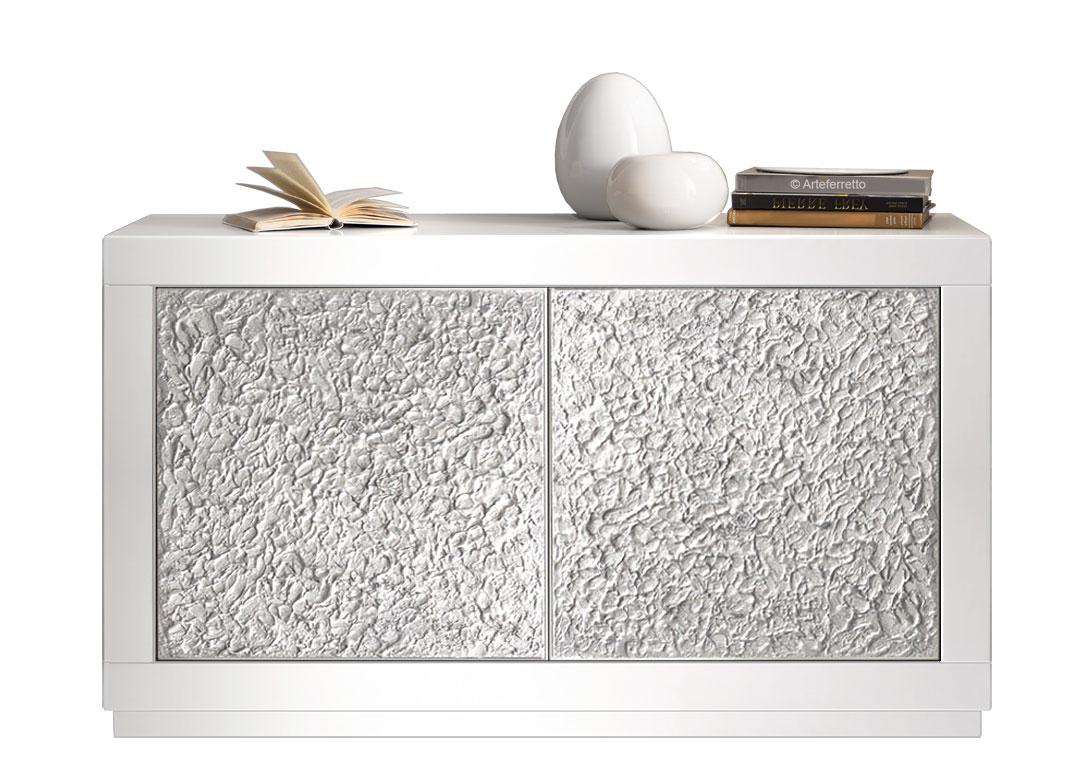 Credenza Moderna Per Ingresso : Madia moderna bianca bassa ante silver per