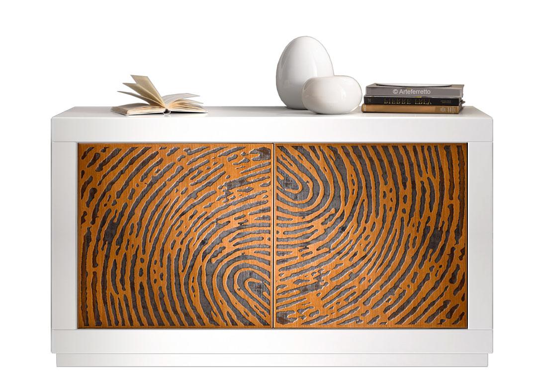 Credenza Bassa Moderna Usata : Madia stile moderno in legno bianco credenza bassa bianca