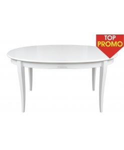 Tavolo ovale laccato allungabile in tinta bianco o avorio