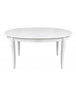 Tavolo ovale allungabile in tinta laccata