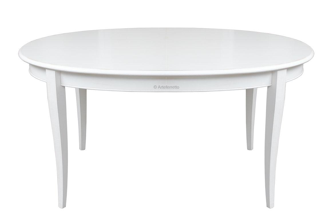 Tavolo ovale laccato allungabile - ArteFerretto