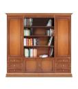 Composizione con vano libreria per soggiorno