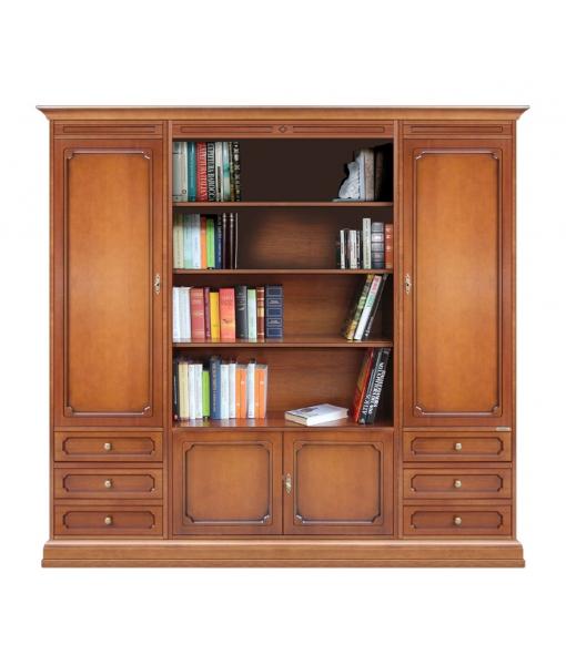 Composizione con vano libreria per soggiorno, Art. 215-A