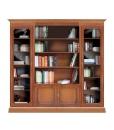 Composizione libreria modulare in legno per soggiorno