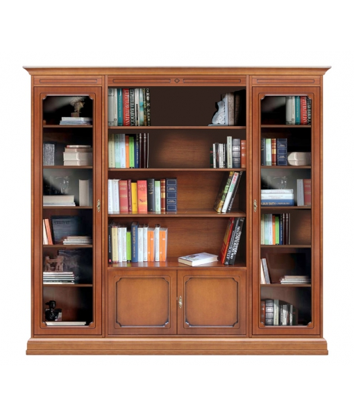Composizione libreria modulare in legno per soggiorno, Art. 215-VG