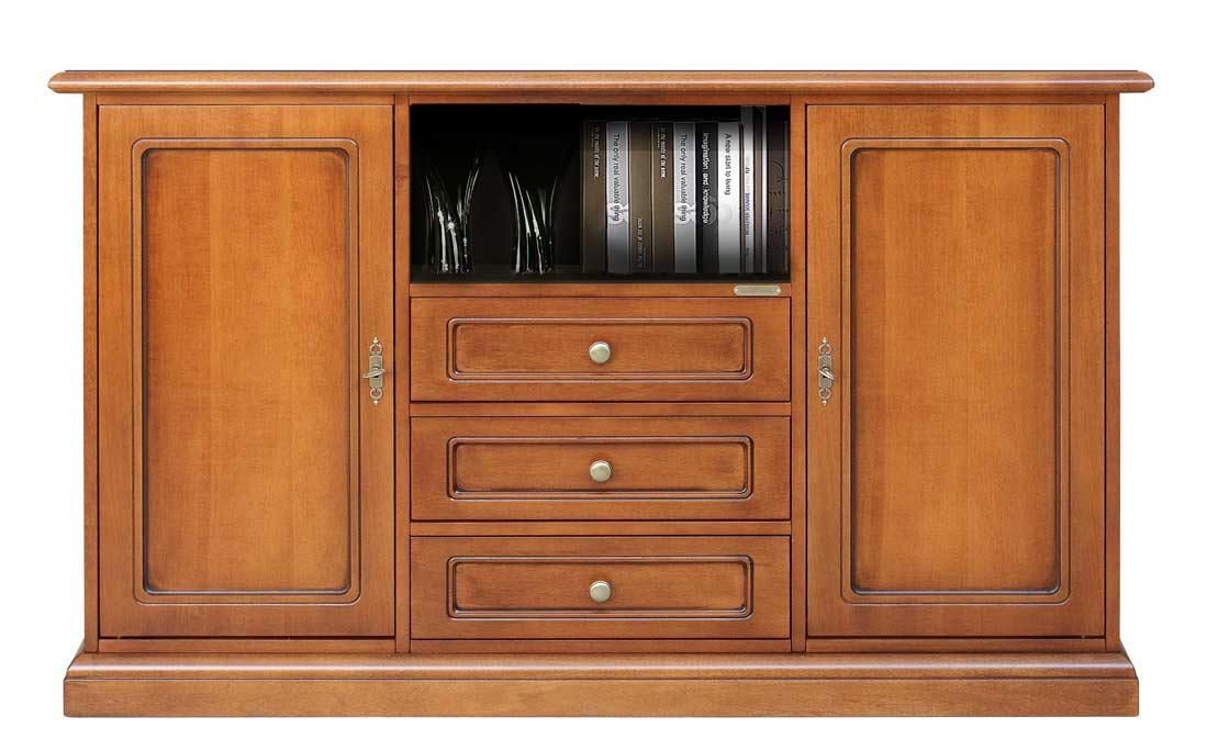 Credenza Con Tv : Mobile credenza porta tv in legno con cassetti l xh cm