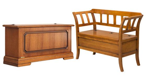 cassapanca, panchetta cassapanca, mobili in legno
