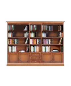 Composizione libreria parete soggiorno