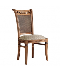 Sedia design classico schienale paglia di Vienna