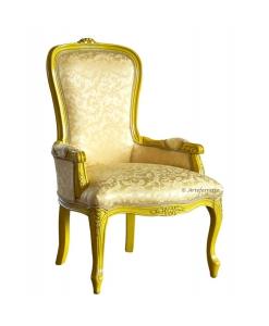 Poltroncina yellow stile classico per zona notte