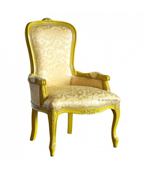 Poltroncina yellow stile classico per zona notte, Art. GM3COL-3