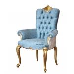 Capotavola sedia struttura oro con braccioli