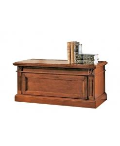 Cassapanca in legno in stile classico, per l'ingresso o come capiente porta legna