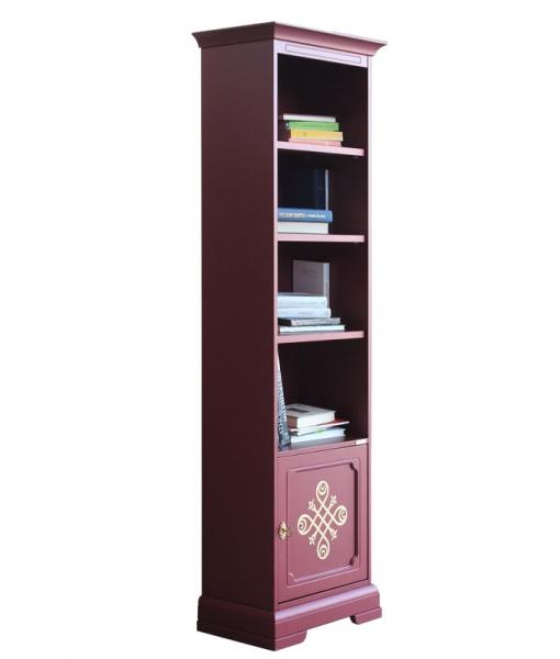 Libreria rubino in legno laccato, Art. 4089-RU
