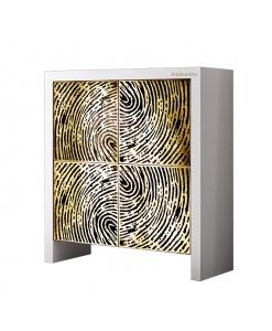 Madia di design legno e impronta