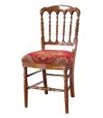 Sedia in legno schienale tornito