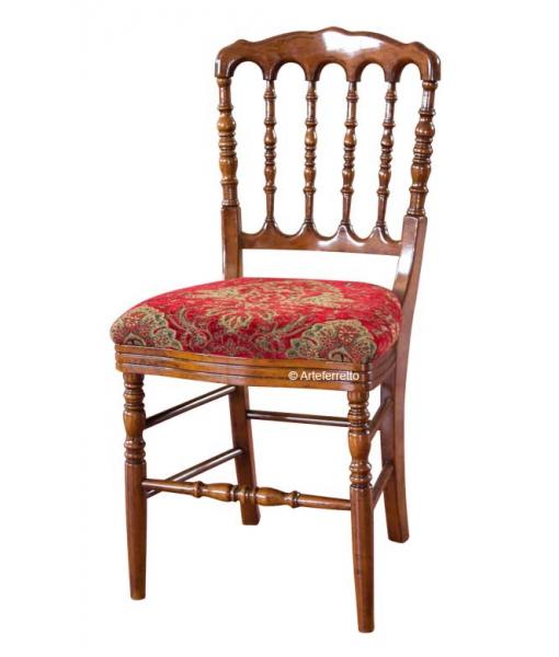 Sedia in legno schienale tornito, Art. FA-311-T