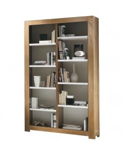 Libreria vani a giorno in legno di frassino