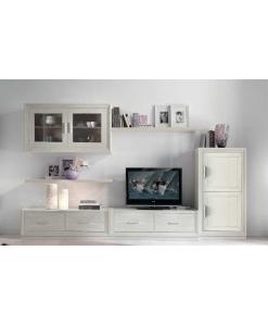 Composizione da parete TV con 4 cassetti e 4 ante
