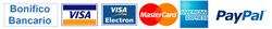Bonifico bancario, Visa, MasterCard, PayPal