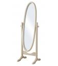 Specchiera ovale girevole in legno