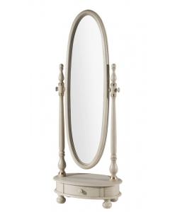 Specchiera girevole ovale con cassetto