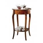 Tavolino porta-lampada in legno