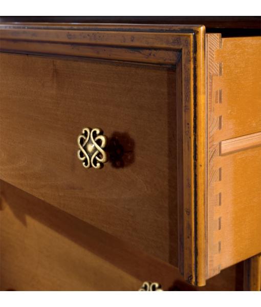 Mobile cassettiera in legno di artigianato