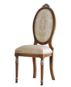 Sedia schienale ovale dettagli oro o argento