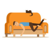 Addormentarsi sul divano