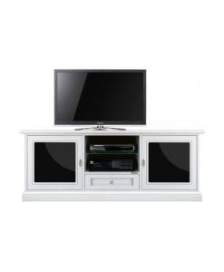 Mobile tv 2 porta vetro nero