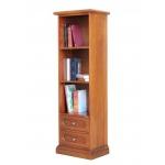 Libreria a colonna stretta con 2 cassetti e ripiani regolabili