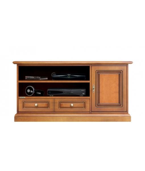 Porta tv midi soundbar in stile classico per salotto, Art. 3701-QB
