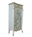 Cassettiera verde con decorazioni floreali fatte a mano, Arteferretto