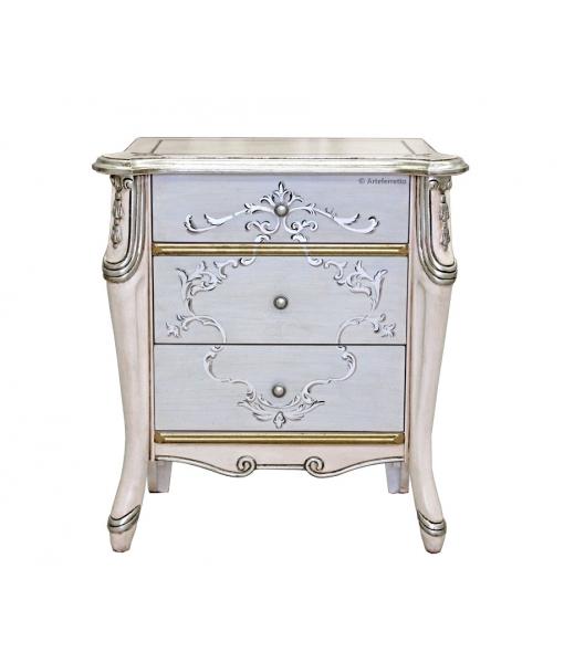 Comodino Beautiful pink&silver, Art. 6714-S