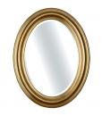 Specchiera ovale in legno verticale