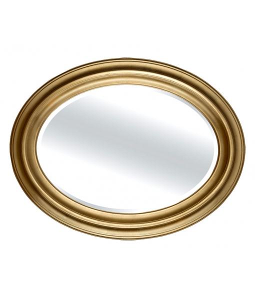 Specchiera ovale in legno stile classico