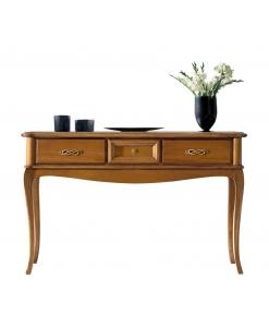 Consolle 3 cassetti stile classico in legno