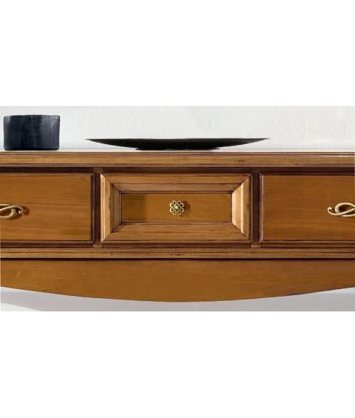 Consolle mobile stile classico maniglieria bronzata