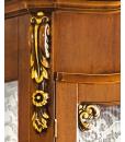 Vetrina argentiera legno schienale tappezzato